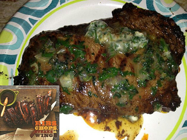 roasted corn with cilantro butter ray lampe chile rubbed ribeye chili ...