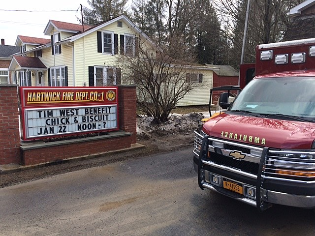 This was maybe the busiest fire house in Otsego County on Sunday afternoon.