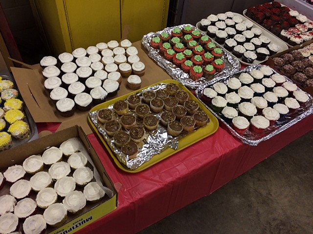 Area bakers contributed over 500 cupcakes for the dessert table