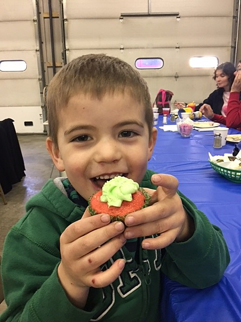 And nobody enjoyed those cupcakes quite as much as Graham Schallert, age four!!