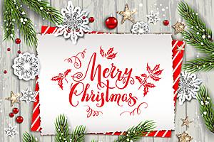 Holiday nature card christmas